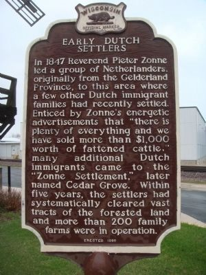 Early Dutch Settlers Marker image. Click for full size.
