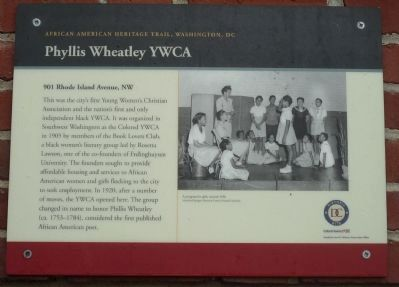 Phyllis Wheatley YWCA Marker image. Click for full size.
