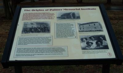The Origins of Palmer Memorial Institute Marker image. Click for full size.