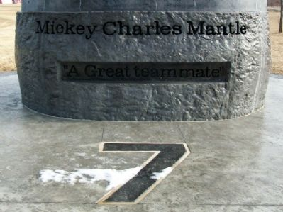 Mickey Charles Mantle Memorial image. Click for full size.