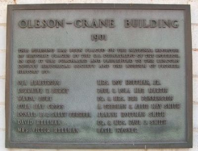 Oleson-Crane Building Marker image. Click for full size.