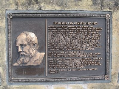 Frederick Law Olmstead Marker image. Click for full size.