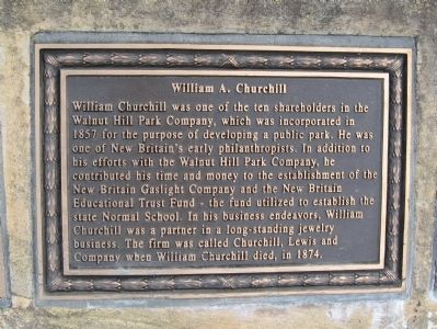 William A. Churchill Marker image. Click for full size.