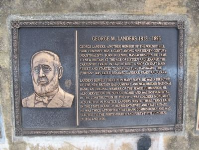 George M. Landers Marker image. Click for full size.