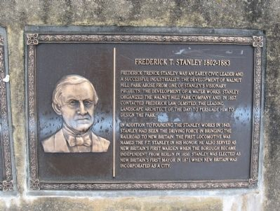 Frederick T. Stanley Marker image. Click for full size.