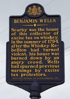 Benjamin Wells Marker image. Click for full size.