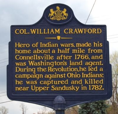 Col. William Crawford Marker image. Click for full size.