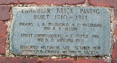 Chandler Brick Paving Marker image. Click for full size.
