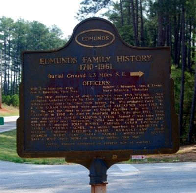 Edmunds Family History Marker image. Click for full size.