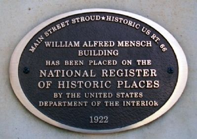 William Alfred Mensch Building Marker image. Click for full size.