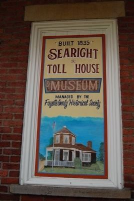 Searight's Tollhouse Sign image. Click for full size.