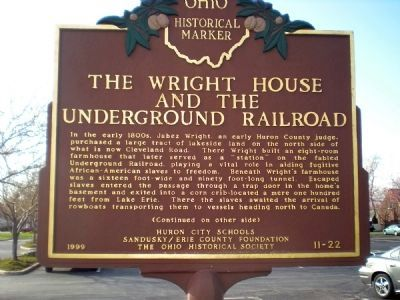 The Wright House and the Underground Railroad Marker image. Click for full size.
