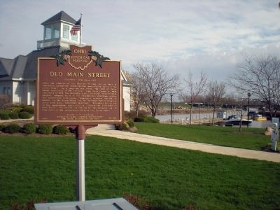 The Wright House and the Underground Railroad/Old Main Street Marker image. Click for full size.