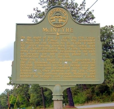McIntyre Marker image. Click for full size.