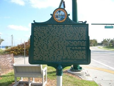 The Delray Wreck Marker image. Click for full size.