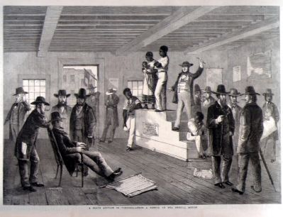 Slave Auction, Richmond 1861 image. Click for full size.