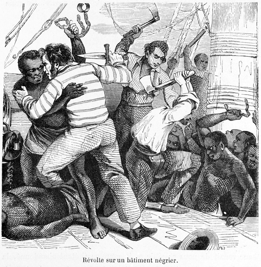 Revolt Aboard Slave Ship, 19th cent.