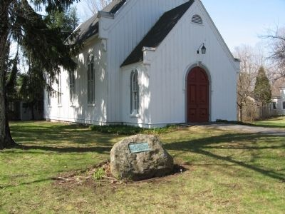 First Foreign Mission School Marker in front of St. Peter's Lutheran Church image. Click for full size.