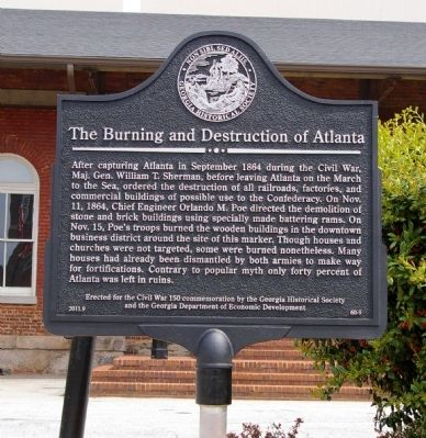 The Burning of Atlanta Marker image. Click for full size.
