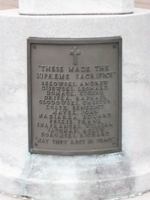 St. Stanislaus Church World War II Memorial Marker image. Click for full size.