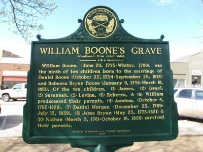 William Boone's Grave Marker image. Click for full size.