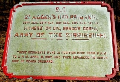 Gladden's Brigade Marker image. Click for full size.
