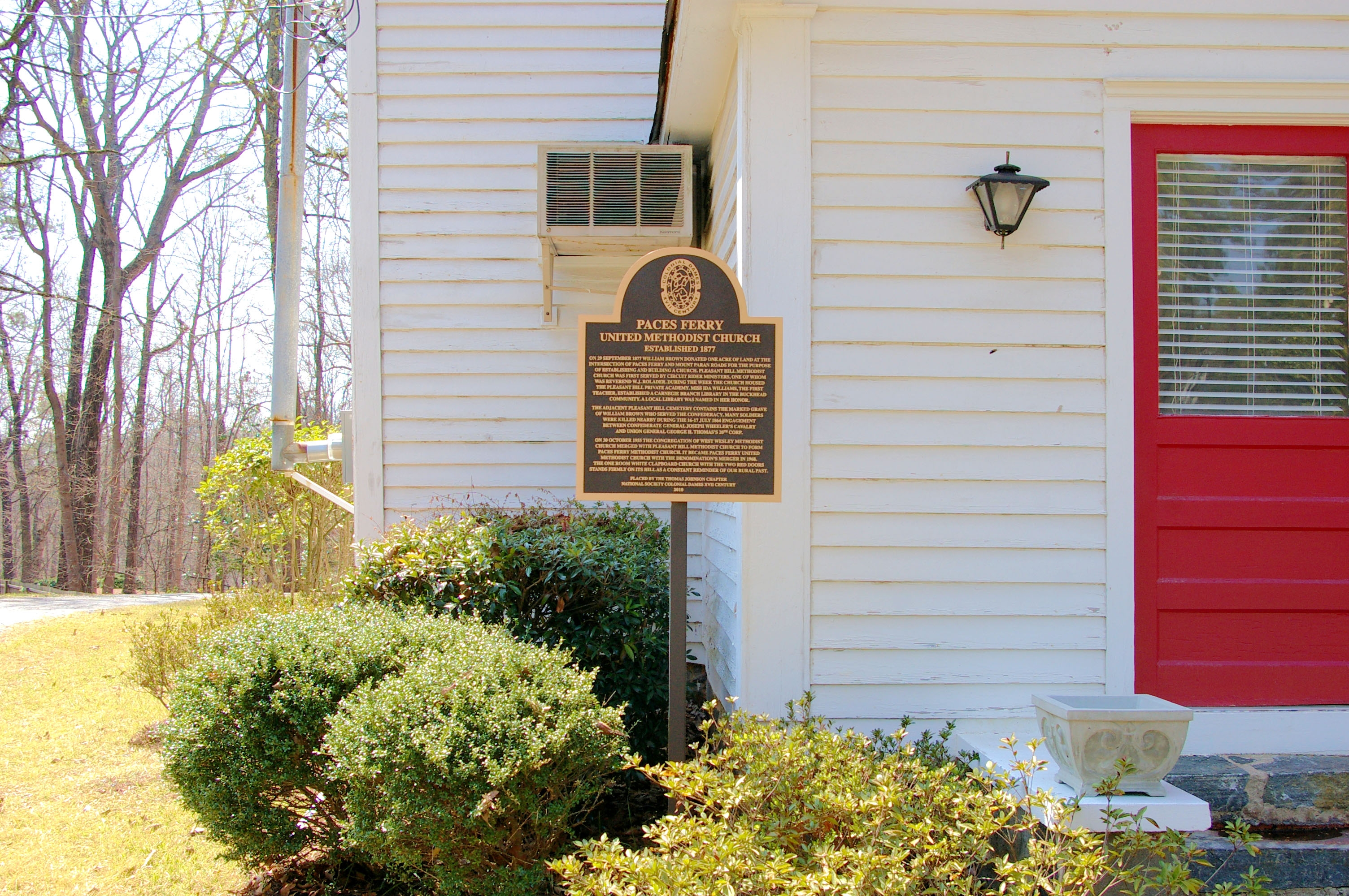 Paces Ferry United Methodist Church Marker