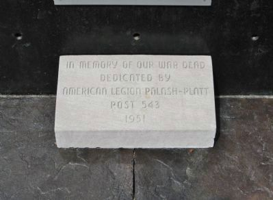 American Legion Dedication Stone image. Click for full size.