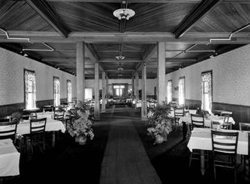 Glenn Springs Hotel -<br>Interior Dining Room image. Click for full size.