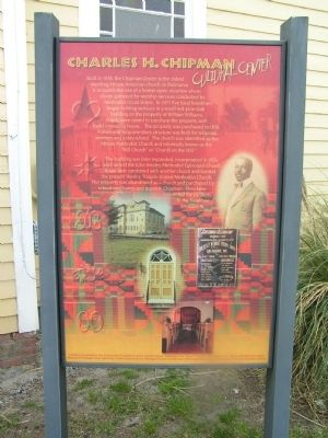 Charles H. Chipman Cultural Center Marker image. Click for full size.