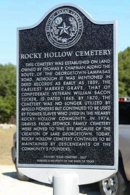 Rocky Hollow Cemetery Marker image. Click for full size.
