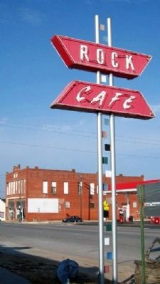 Rock Cafe Sign image. Click for full size.