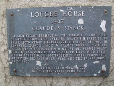Lougee House Marker image. Click for full size.