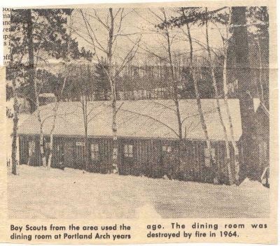 Portland Arch Scout Camp mess hall image. Click for full size.
