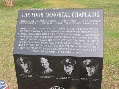 The Four Immortal Chaplains Marker image. Click for full size.