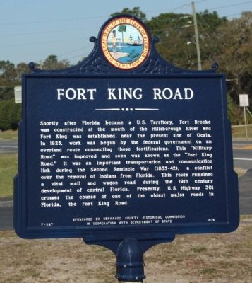 Fort King Road Marker image. Click for full size.