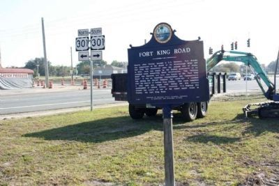 Fort King Road Marker along State Road 50 near US 301 image. Click for full size.