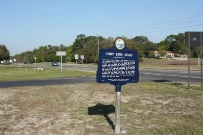 Fort King Road Marker, looking west along State Road 50, Cortez Blvd. image. Click for full size.