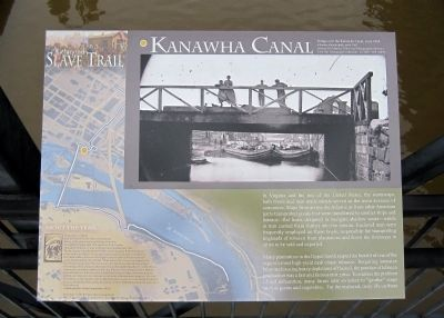 Kanawha Canal Marker (left panel) image. Click for full size.