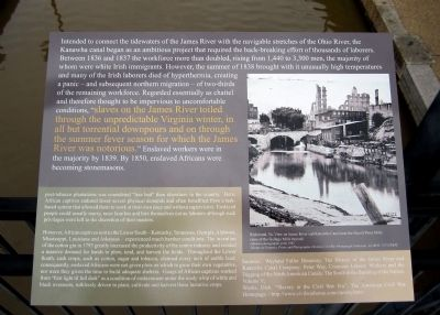 Kanawha Canal Marker (right panel) image. Click for full size.