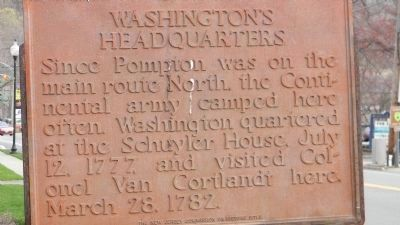 Close up of the Original Washington's Headquarters Marker image. Click for full size.