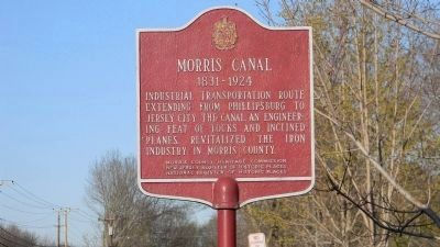 Morris Canal Marker image. Click for full size.