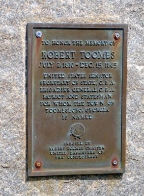 Robert Toombs Marker image. Click for full size.