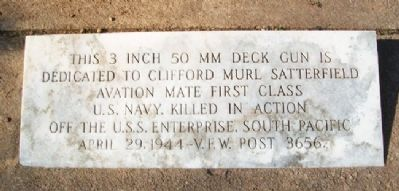 Clifford Murl Satterfield Memorial image. Click for full size.