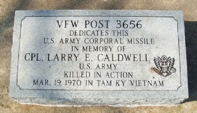 Cpl Larry E. Caldwell, US Army Memorial image. Click for full size.
