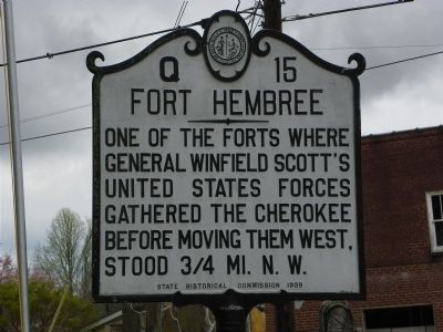 Fort Hembree Marker image. Click for full size.