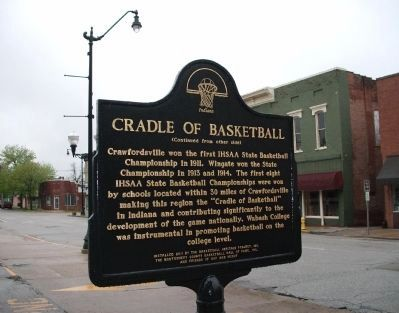 "(Side ""B"") - - Cradle of Basketball Marker image. Click for full size."