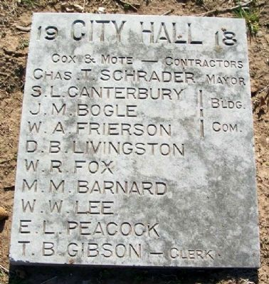 Former Bristow City Hall Marker image. Click for full size.