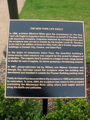 The New York Life Eagle Marker image. Click for full size.