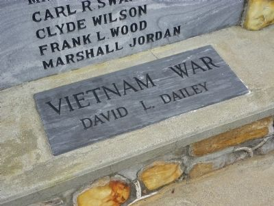 In Memory Our War Dead Marker showing the Viet Nam entry image. Click for full size.